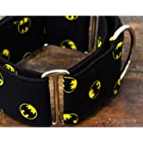 Collare per cani martingale: Batman, fatto a mano in Spagna da Wakakán