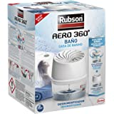 Rubson Aero 360° badkamer, draagbaar, draadloze luchtontvochtiger voor badkamer, vochtopname voor luchtcirculatie, condensato