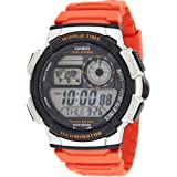 Casio Illuminator Watch For Men Orange Resin Strap AE-1000W-4BVDF