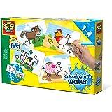 SES Creative- Coloriage à l'eau-Animaux de la Ferme, 14455
