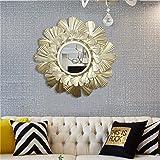 Runda väggspeglar för vardagsrum, heminredning och sovrum   runda metallinramade väggspeglar för upphängning och väggdekor  