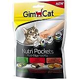 GimCat Nutri Pockets Malt-Vitamin Mix - Snack crujiente para gatos, con relleno cremoso e ingredientes funcionales - 1 bolsa
