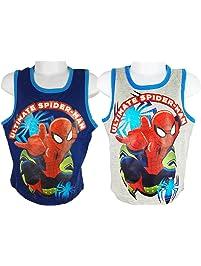 70565c3d Marvel Spiderman Boys Vest Top Blue