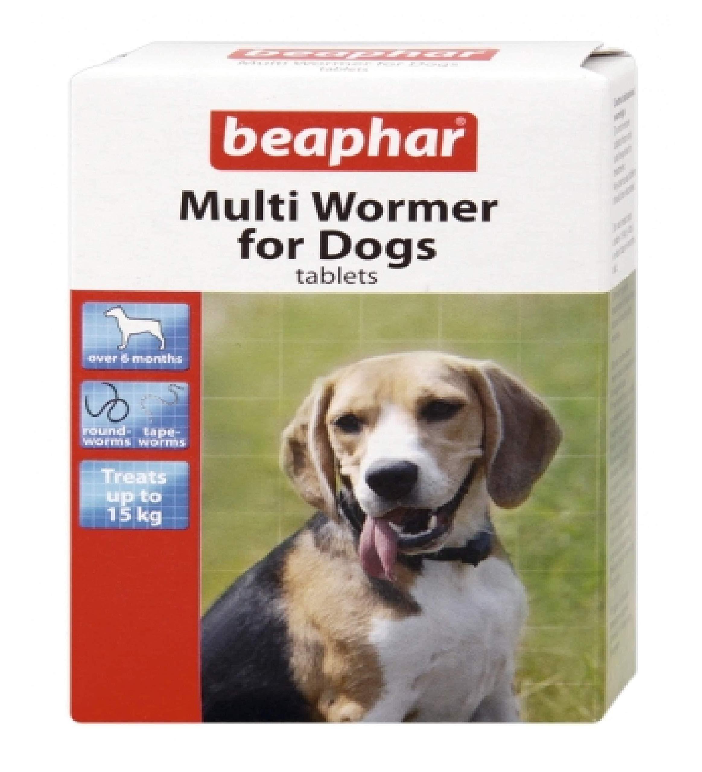 Leeway Beaphar – MULTI WORMER FOR DOGS – ROUND & TAPE WORM x3