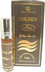 Al-Rehab Golden Attar 6 ml Alcohol free long lasting perfume oil with roll on easy to apply