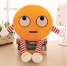 Skylofts Cute 32cm Romantic Stuffed Smiley Cushion with Legs and Hands (Yellow)