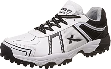 Vector X Target Cricket Shoes (White-Black)