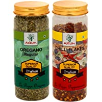 Axium Pizza Combo of Oregano & Chilli Flakes Regular Italian Superior Quality Special Tasty Spices for Seasonings Natural Both Pack 100 Grams(Total 200 GMS)