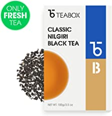 Teabox Classic Nilgiri Black Tea 100g (40 Cups) | Fruity, Floral Taste Notes | Sealed-at-Source Freshness