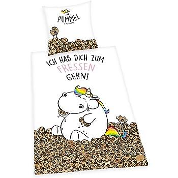 Pummeleinhorn Pummel & Friends - Bettwäsche (135cmx200cm, Renforcé) (Fressen gern)