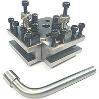 Ensemble de poteaux à changement rapide T37 + 2 supports - Myford et tour - Hauteur du centre : 90-115 mm