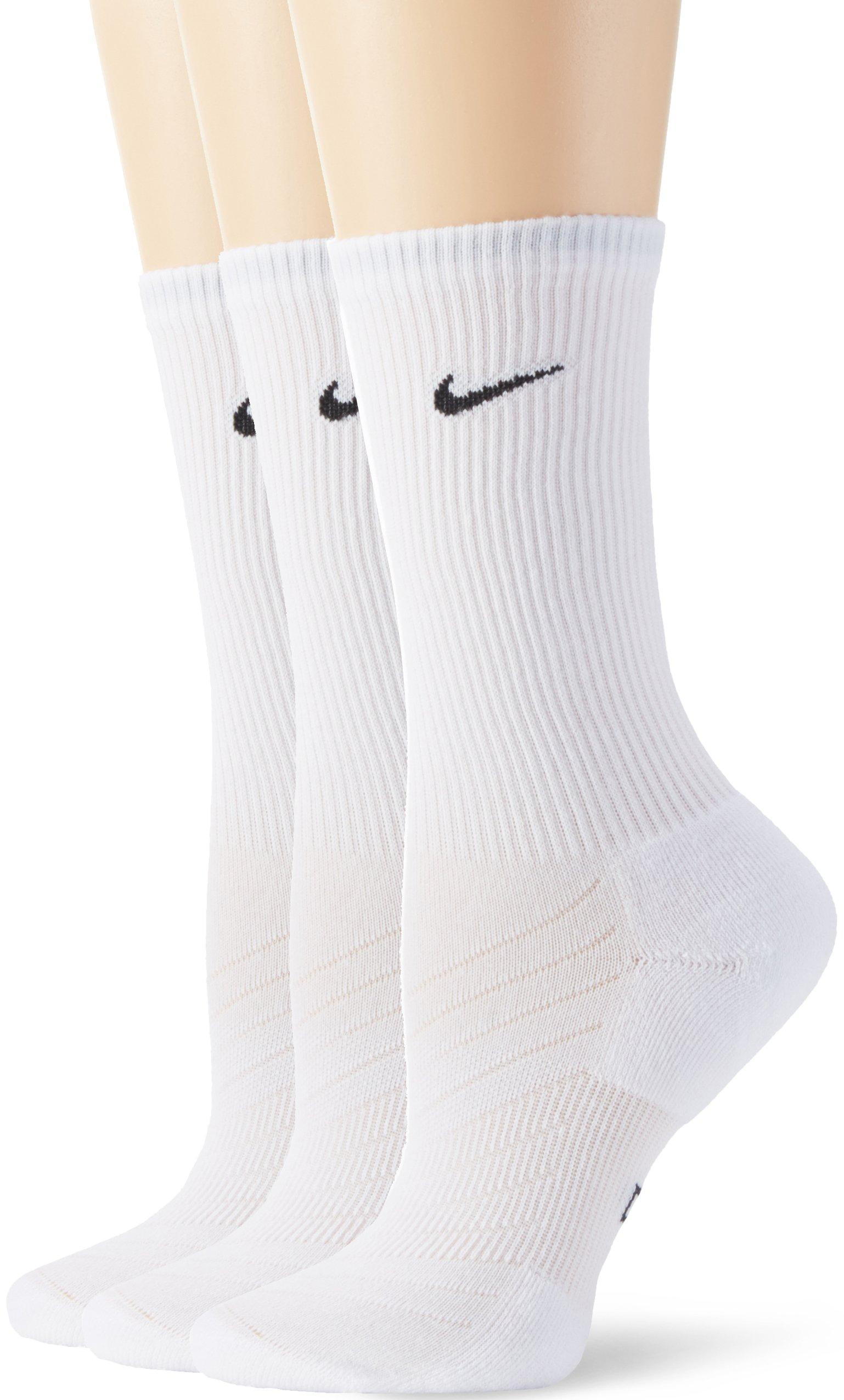 Nike calze, lunghezza a 3/4�3, Unisex, 3/4 Length Socks 3, bianco, L