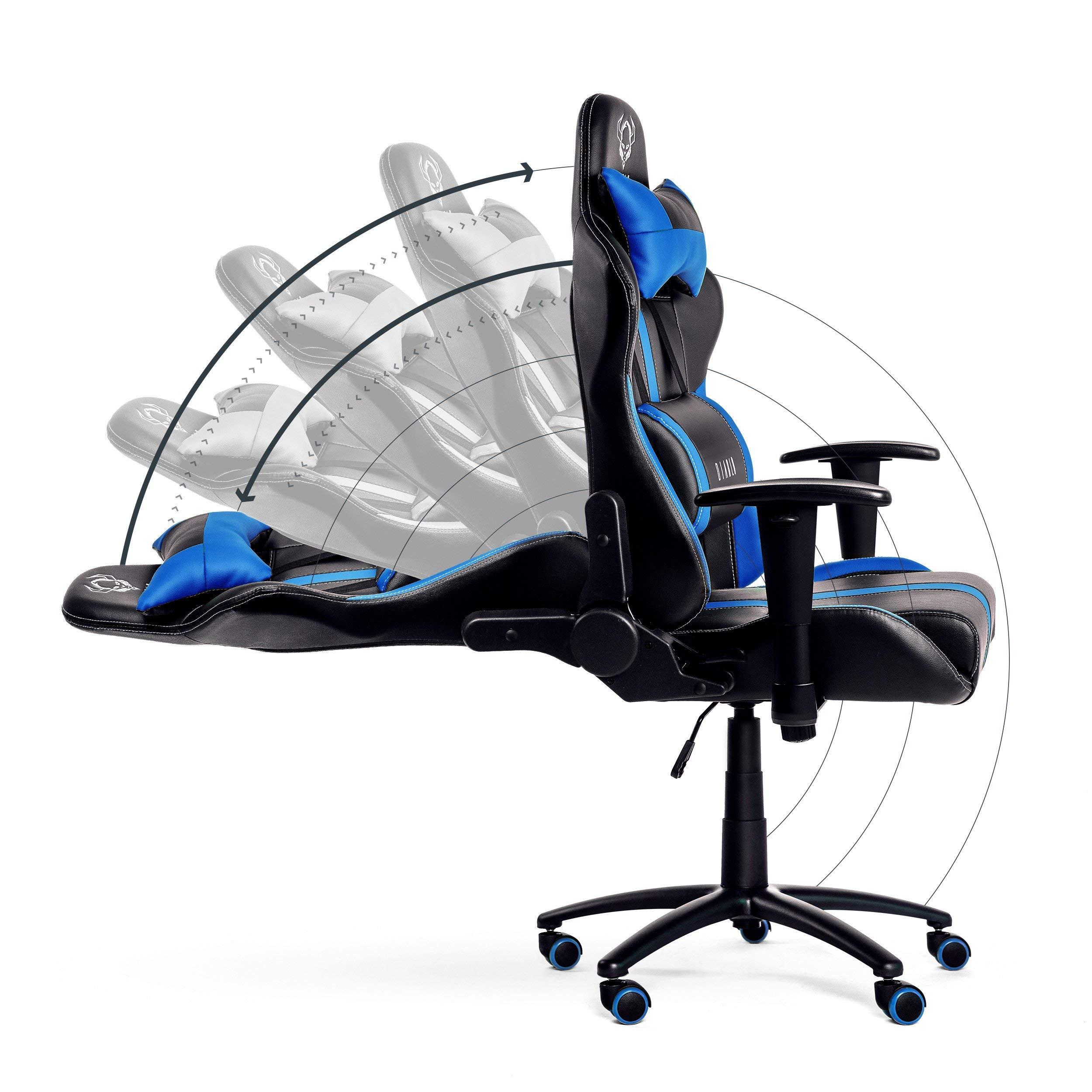 Cuero Sintético Player Gaming Ajustables Silla Reposabrazos Diablo® X Almohada Y Lumbar De Inclinación Oficina Cojin Selección Mecanismo cRq54AjS3L