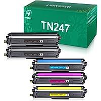 GREENSKY Cartouche de Toner Compatible Remplacement pour Brother TN247 TN243 pour HL-L3210CW HL-L3230CDW HL-L3270CDW MFC…