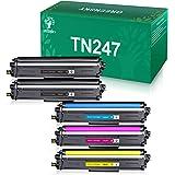 GREENSKY Cartucho de Tóner Compatible Repuesto para Brother TN247 TN243 para HL-L3210CW HL-L3230CDW HL-L3270CDW MFC-L3710CW M
