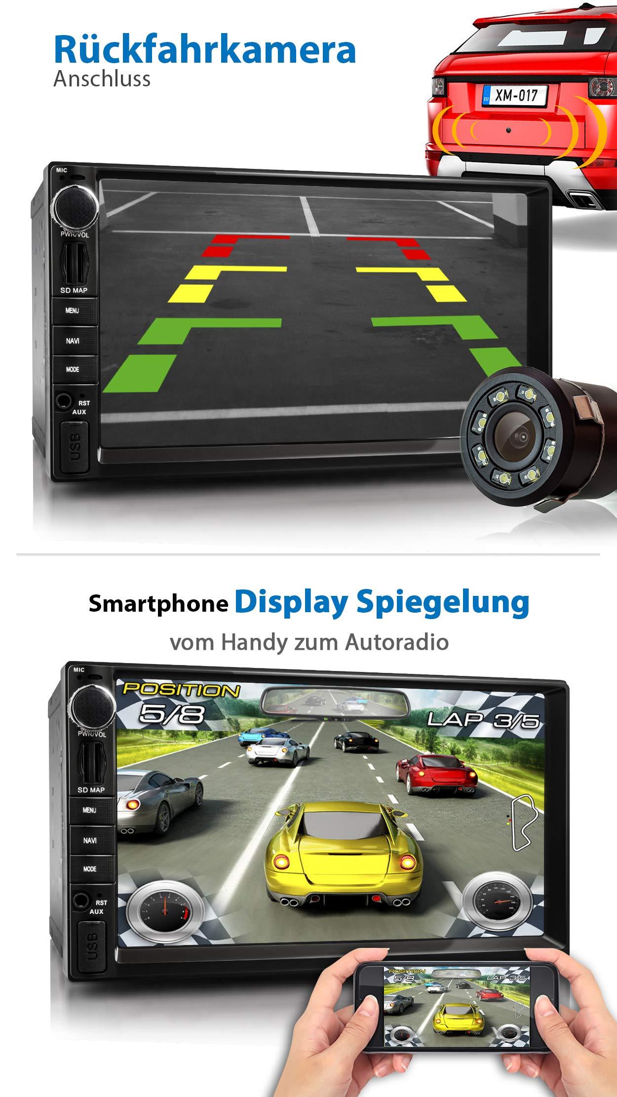 XOMAX-XM-2VA757-Autoradio-mit-Android-9-QuadCore-2GB-RAM-32GB-ROM-GPS-Navigation-I-Support-WiFi-WLAN-3G-4G-DAB-OBD2-I-Bluetooth-7-Zoll-18-cm-Touchscreen-USB-SD-AUX-2-DIN