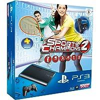 PlayStation 3 - Konsole Super Slim 500 GB (inkl. DualShock 3 Wireless Controller + Move Starter Pack + Sports Champions 2)