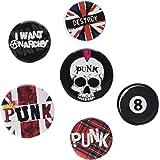 GB eye LTD BP0365 Pacchetto Badge Punk, 4 x 25mm e 2 x 32mm, Multicolore