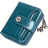 SENDEFN Portafoglio Donna in vera pelle di Blocco RFID in Pelle Corto Portamonete per donna con 8 Scomparti per Carte 2 Fines