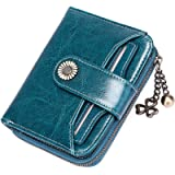 SENDEFN Purses for Women Genuine Leather Small Bifold Compact Womens Wallet with RFID Protection