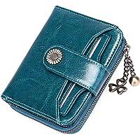 SENDEFN Portafoglio Donna in vera pelle di Blocco RFID in Pelle Corto Portamonete per donna con 8 Scomparti per Carte 2…