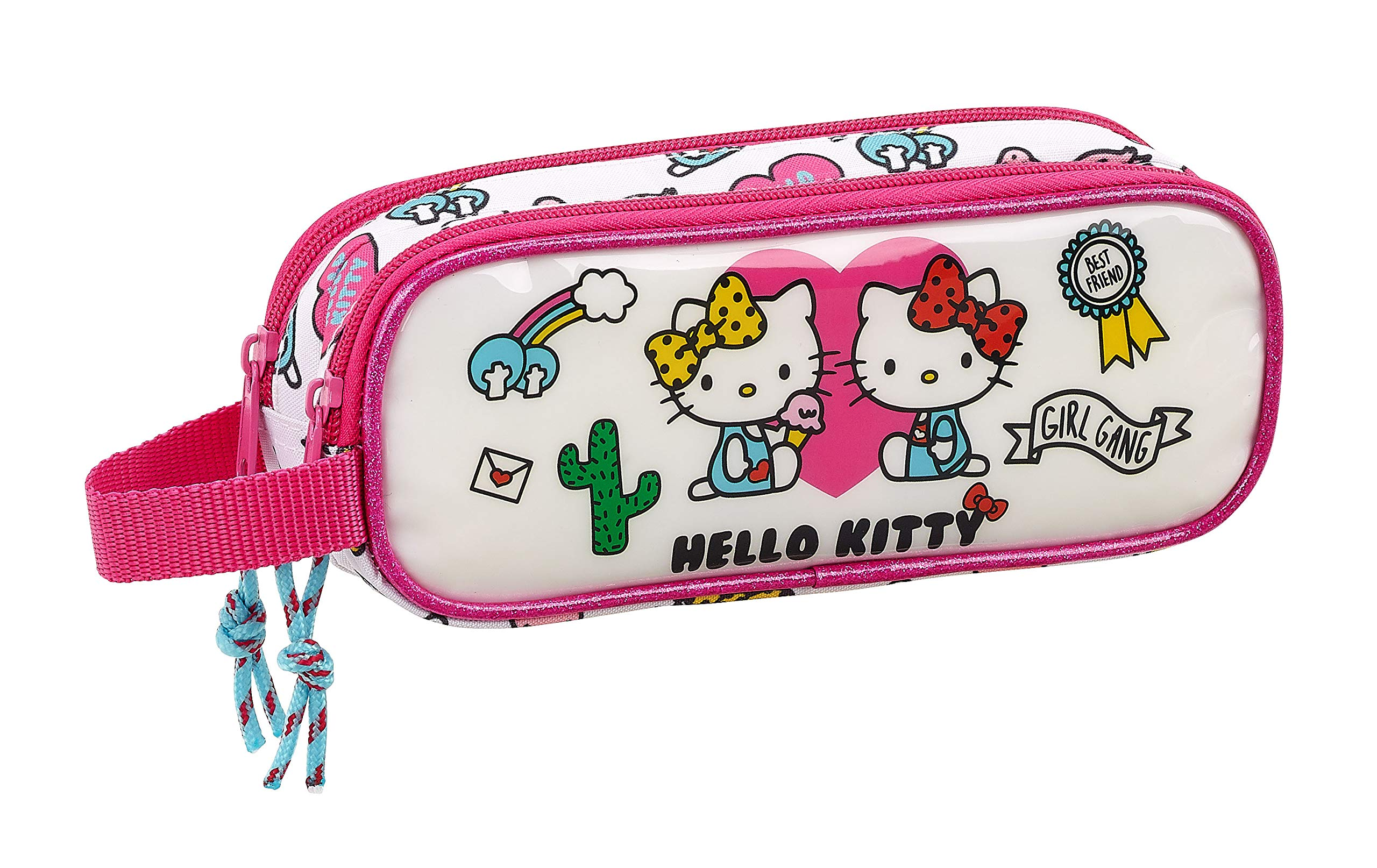 Hello Kitty Estuche portatodo Doble 2 Cremalleras Escolar