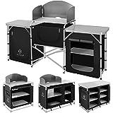 Kesser® Campingküche | Ink. Tragetasche | Campingschrank | mit Aluminiumgestell | Reiseküche | Küchenbox | Zeltschrank | Outdoor Camping Küche | Modelle wählbar