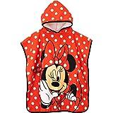 Disney Poncho de Toalla con Capucha para Niñas Minnie Mouse Un Tamaño