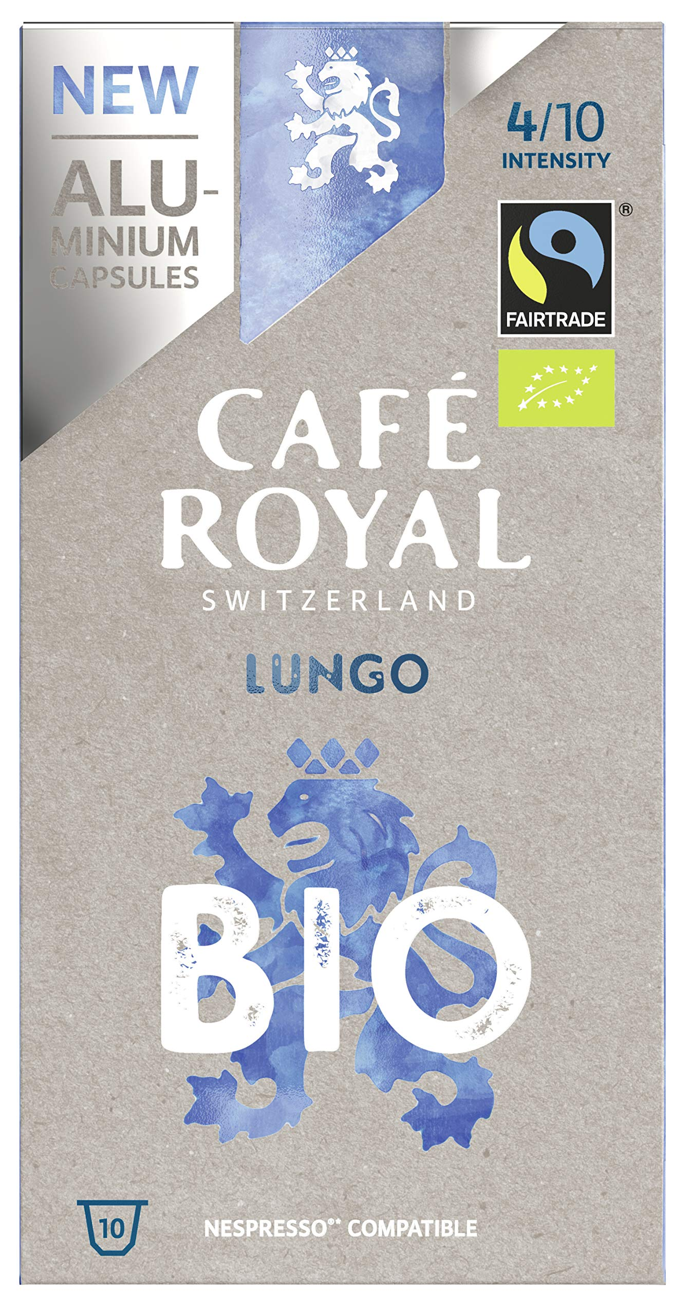 Cafe Royal Lungo Bio/Organic Coffee Pods, 1.25 kg, Lot of 5