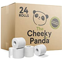 The Cheeky Panda – Bamboo Toilet Tissue Paper | Bulk Box of 24 Rolls (3 Ply, 200 Sheets) | No Unnecessary Packaging…