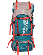 Hyper Adam 65 L Rucksack Hiking Backpack Trekking Bag Camping Bag Travel Backpack Outdoor Sport Rucksack Bag 65 Ltrs (Sea Green)