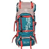 Hyper Adam 65 L Water Resistant Rucksack Hiking Backpack/Bag for Trekking/Camping/Travel/Outdoor Sport(Sea Green)