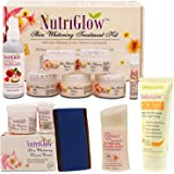 NUTRIGLOW Skin Whitening Treatment Kit With Bleach Cream (43 gm) Fresh Rose Toner(100 ml) Moisturizing Lotion (50 ml) De…