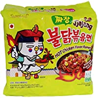 Samyang Hot Chicken Ramen Jjajang Noodles, 5 X 140 g