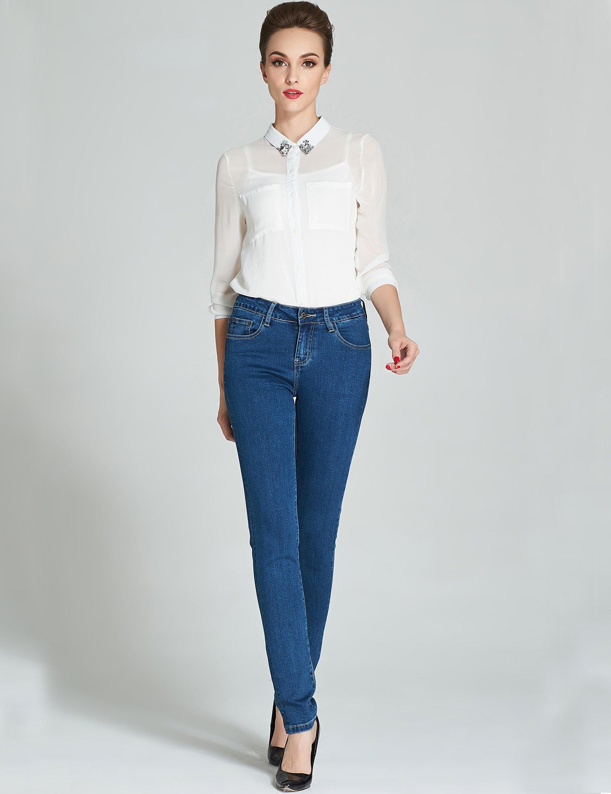 Camii Mia Pantalones Vaqueros Pitillo Skinny Elásticos Básico de Mujer