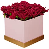 Fourwalls Artificial Rose Flowers in a Box for Valentines Day Gift (25 Flower in Box, 20 cm Tall, Pink and Red)