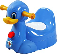 Sunbaby Squeaky Duck Potty Trainer (Blue)