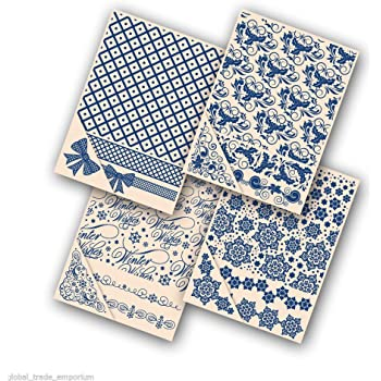 Tattered Lace Embossing Folders VARIOUS TEXTURES **FREE POST* 4 piece sets