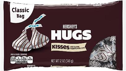 Hershey's Kisses Hugs Milk Chocolate Hugged by White Creme, 340g
