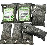 ENVEL Luftrenarpåse, bambu kol natur frisk luftrenare väska naturlig luftfräschare påsar, aktiverad kol luktborttagare fräsch