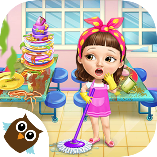 Sweet Baby Girl Cleanup 6 - Cleaning Fun at School - Bus Apps School