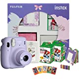 Fujifilm Instax Mini 11 Instant Camera (Lilac Purple) Happiness Box with 40 Shots