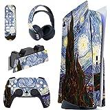 PlayVital Adesivo Skin per PS5 Console&Controller&Telecomando&Cuffie&Base di Ricarica Sticker Decal Cover Vinile per Playstat