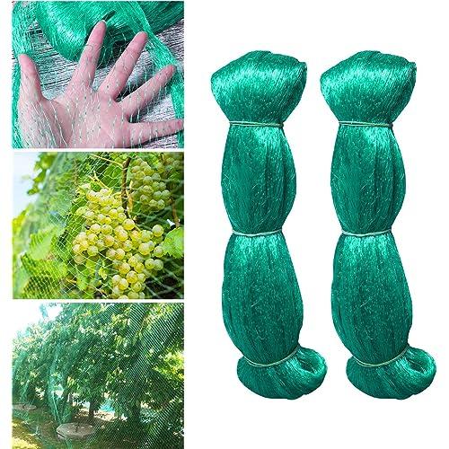 Hywean 2 Pezzi 2 * 5m Rete per Uccelli Rete Anti-Uccelli Verde Rete Protezione per Piante stagni Frutti Larghezza Maglie