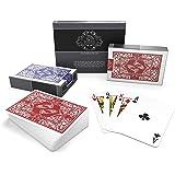 Bullets Playing Cards vattentäta spelkort i plast – bro storlek – standardindex – pokerkort kortspel kortdäck skridskokort i