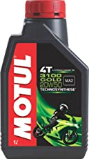 Motul 3100 4T Gold 20W50 API SM Technosynthese High Performance Semi Synthetic Engine Oil for Bikes (1 L)