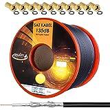 deleyCON HQ+ 50m Cable Coaxial Sat 130dB Blindado de 5 Capas ...