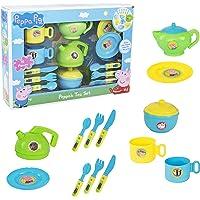 Peppa Pig Cutlery & Tea Dinner Set | Includes Teapot, Jug, Bowl, Saucers & More | Fun Toddler Tea Pot Set for Little Boys & Girls Age 3 Years +