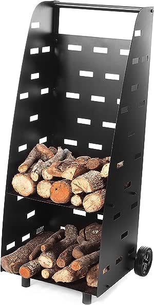 Support bûches pour cheminée ou barbecue