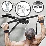 Physionics Boxsack Wandhalterung mit Klimmzugstange - 2 in 1 Wandbefestigung, bis 100 kg belastbar, ideal zur Muskelstärkung - Boxen, MMA, Krafttraining, Heimtraining, Fitnessgerät, Fitnessstudio